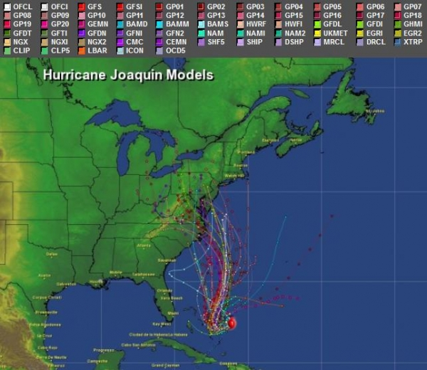 Here Are Scores Of Model Solutions All Displayed On The Same Aeris Weather Map Showing A Rough Consensus Turn Toward Northwest Within 3 4 Days