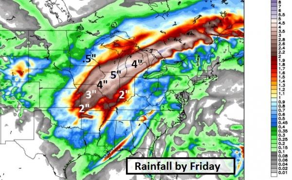 More Weather Whiplash (2-4 inches of slush Thursday - 70F