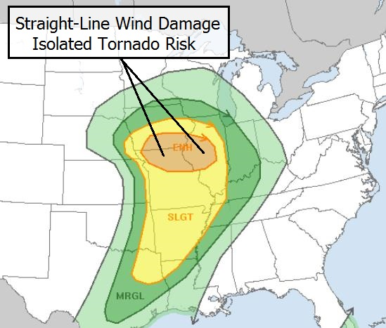 Elevated Tornado Risk North/East of Twin Cities ...